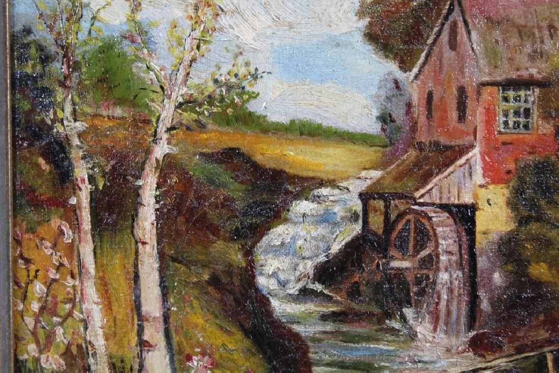 American School, Painting of a Mill Near a River - 2