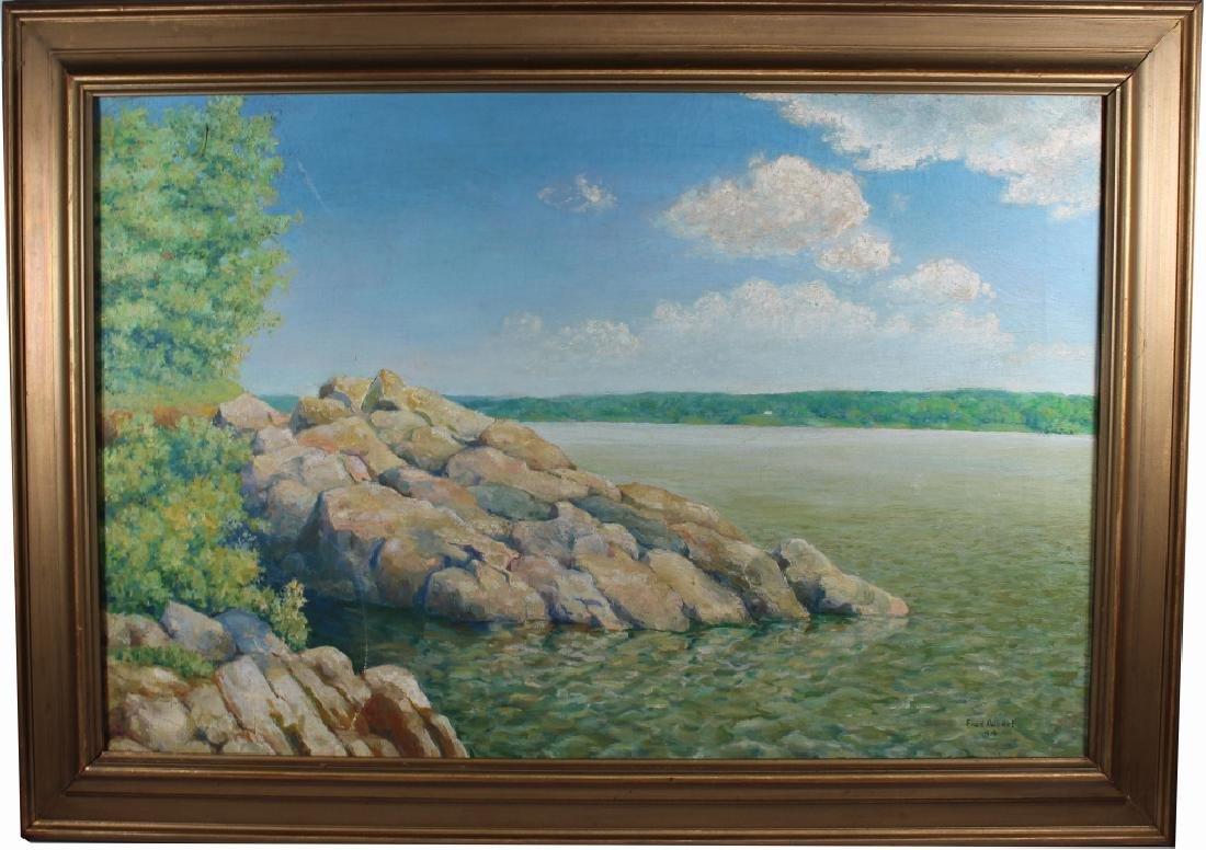 Fred Albert (20th C.) 1944 Coastal Painting