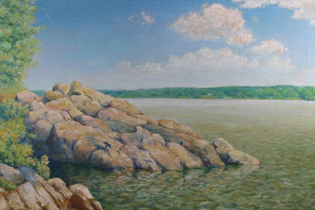 Fred Albert (20th C.) 1944 Coastal Painting - 2