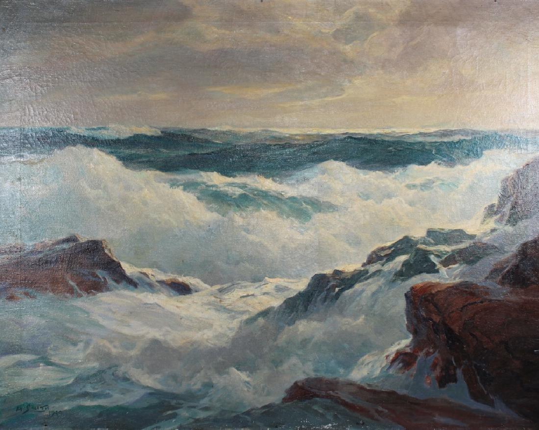 H. Smith, 1949 New England Coastal Seascape