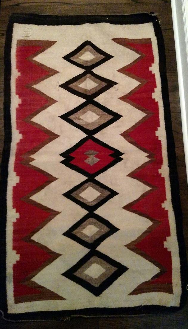 Early 20th C Navajo Rug, circa 1920's