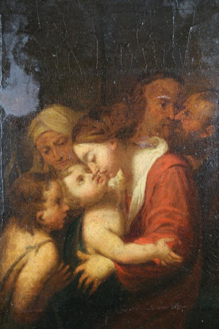 18th C. Interior Painting of Mother & Children - 2