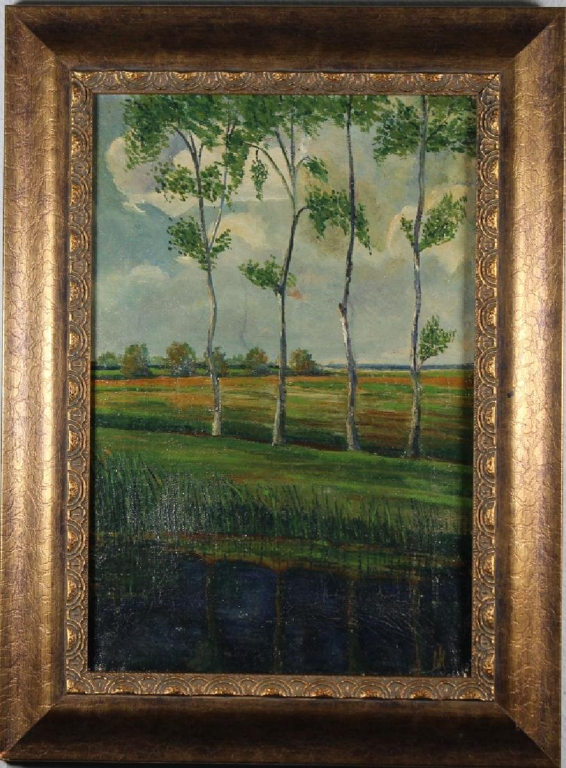 """Avond in de Beenid"" French Landscape, Signed"