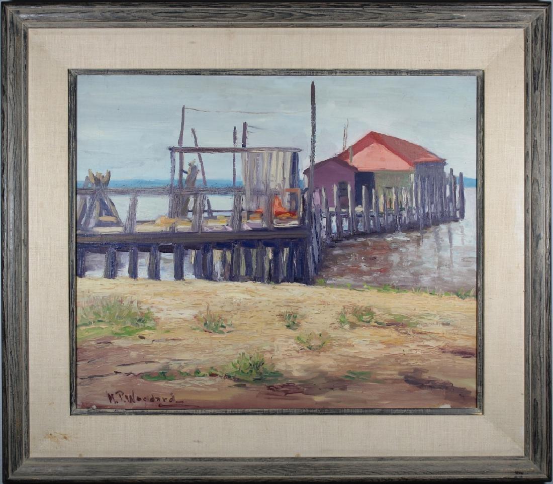 "Merritt P. Woodard, ""Key Port Dock"". Museum Label"