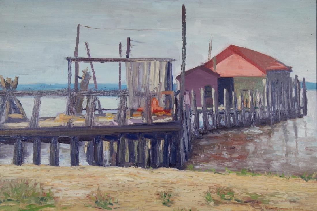 "Merritt P. Woodard, ""Key Port Dock"". Museum Label - 2"