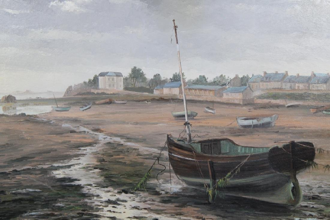 French School Painting of Beached Boats - 4