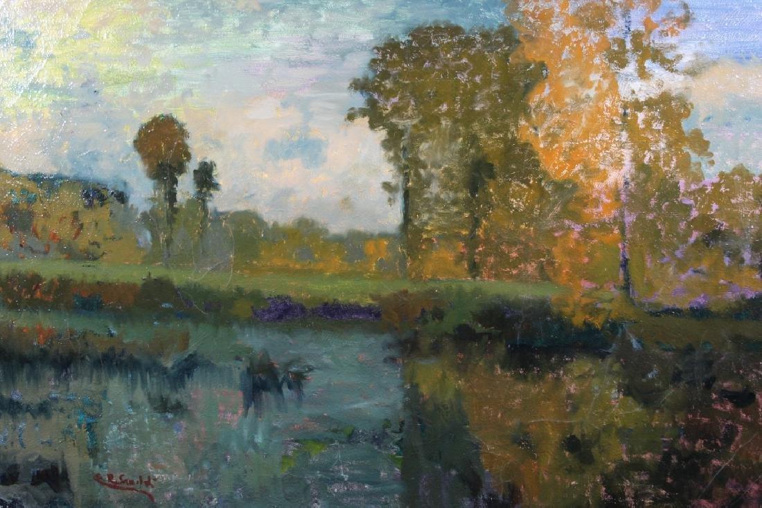 Signed, Impressionist Autumnal River Landscape
