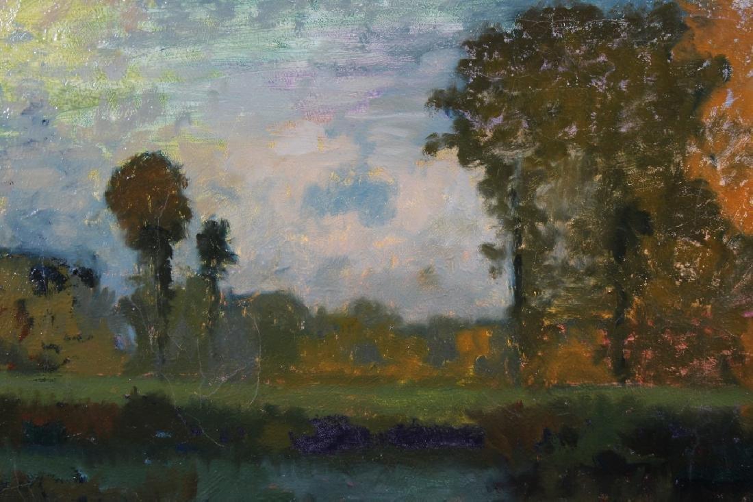 Signed, Impressionist Autumnal River Landscape - 2