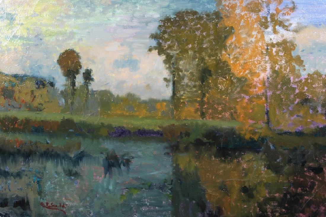 Signed, Impressionist Autumnal River Landscape - 5