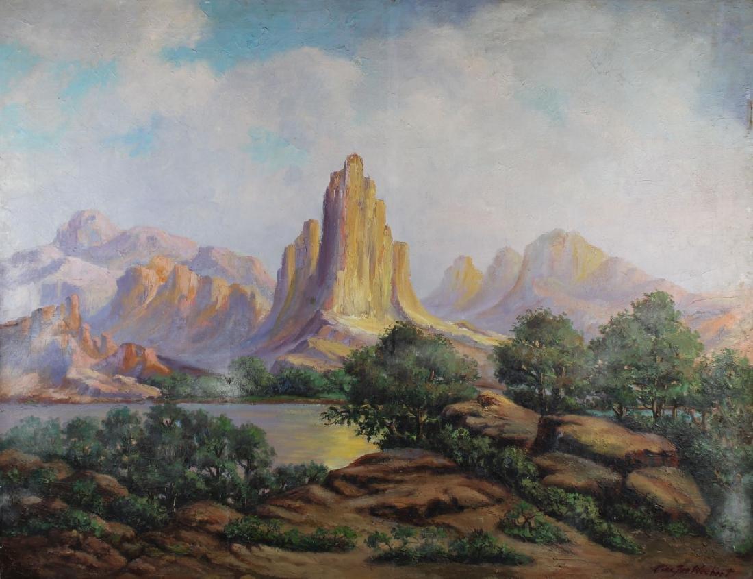 Vintage Western American Landscape, Signed