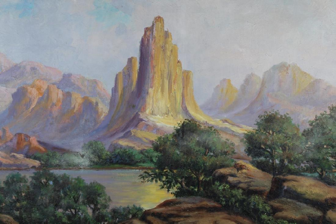 Vintage Western American Landscape, Signed - 2