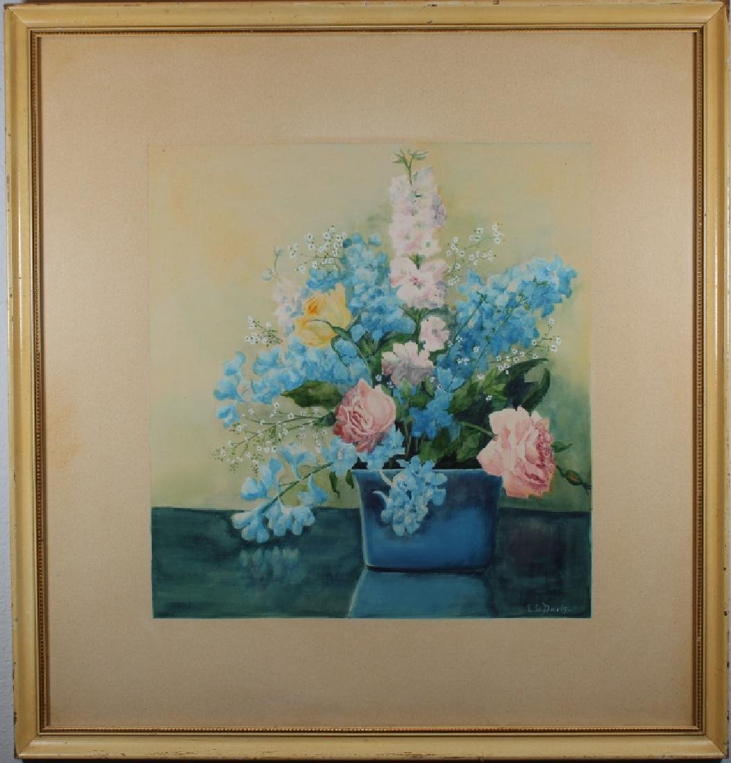 E.G. Davis, Signed Still Life Painting