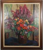 Large Antique Still Life Painting