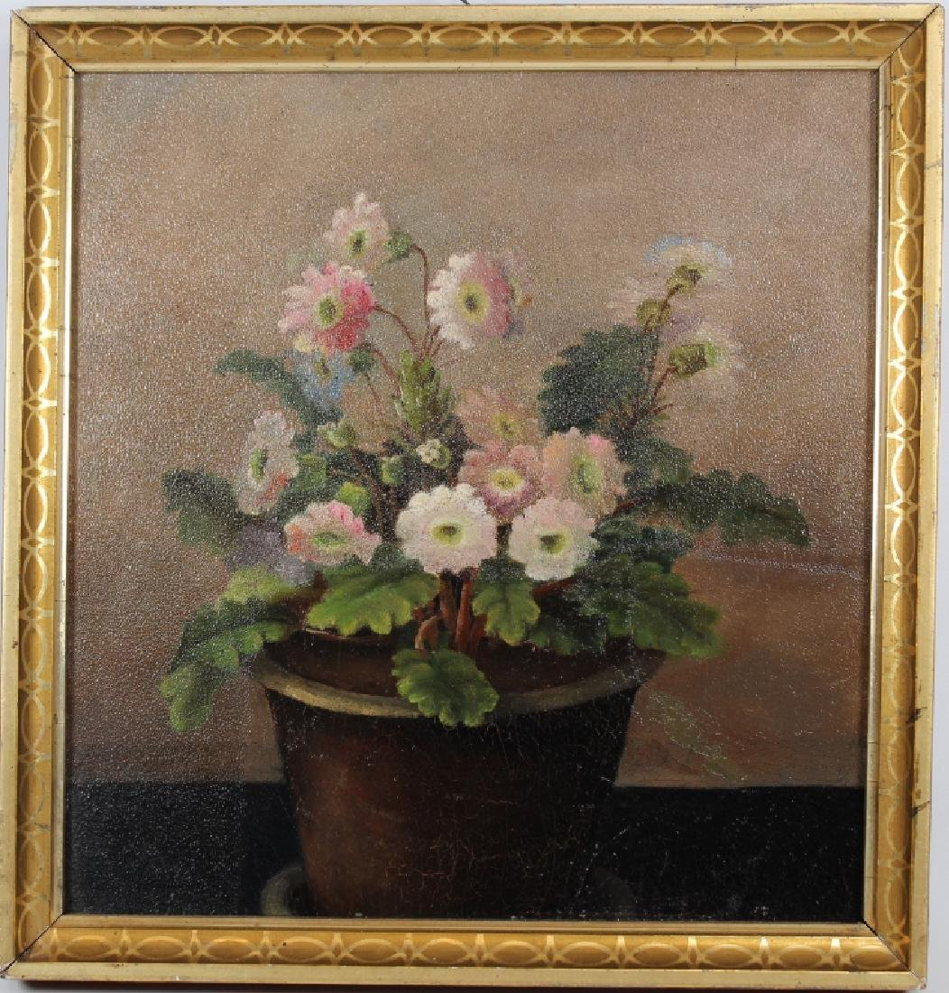 American School, Still Life Painting of Flowers