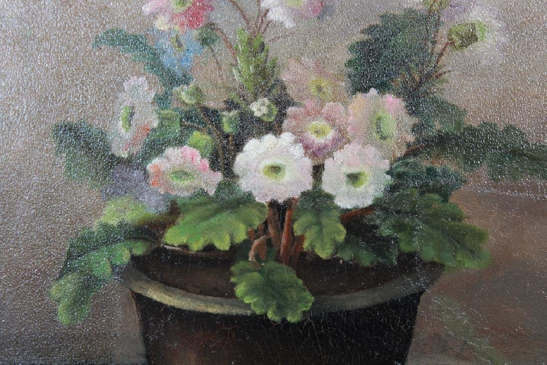 American School, Still Life Painting of Flowers - 2