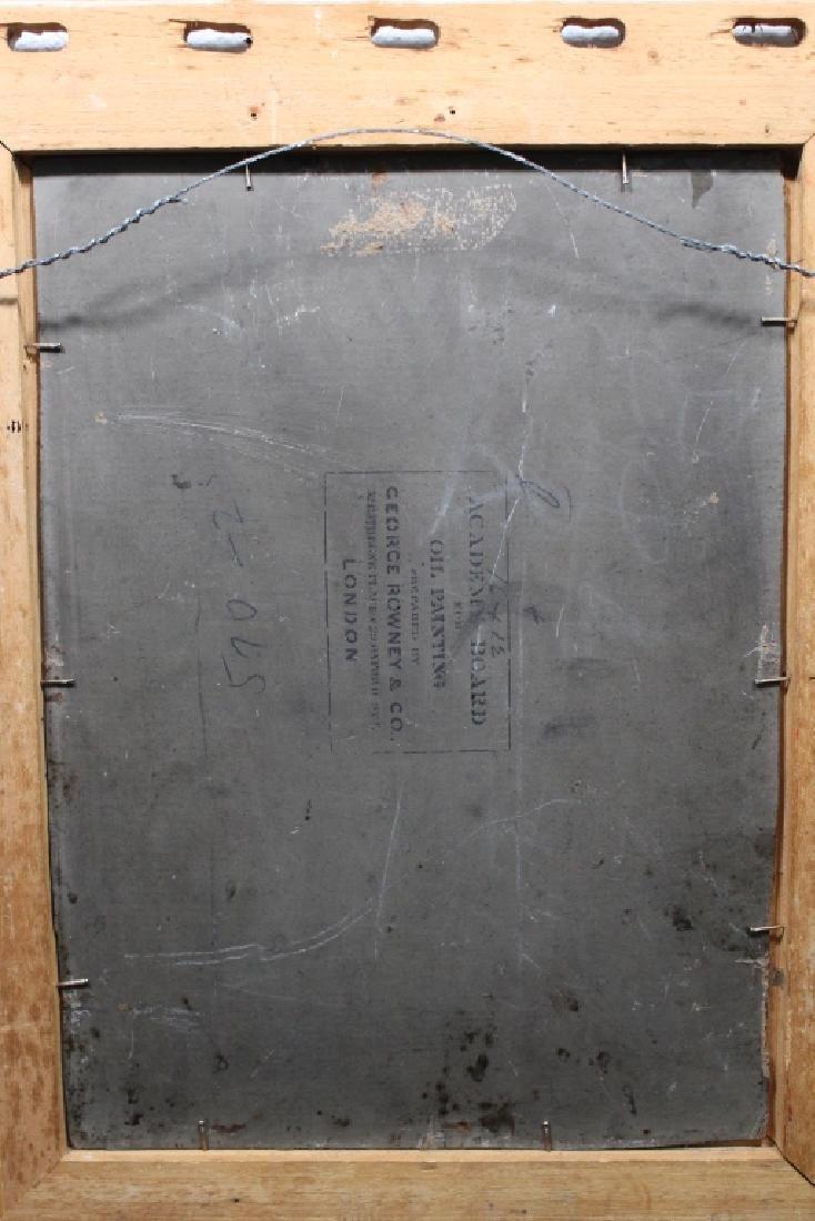 1882 Monogrammed European School Ptg of a Woman - 4