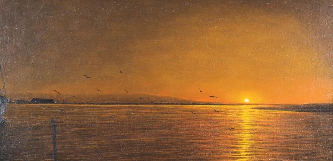 Sourkasian, Signed Coastal Scene at Sunset - 2