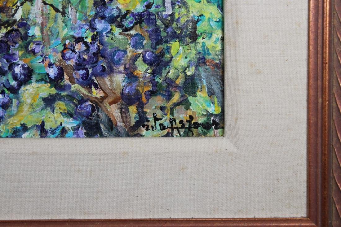 Impressionist Painting of Village in Landscape - 3