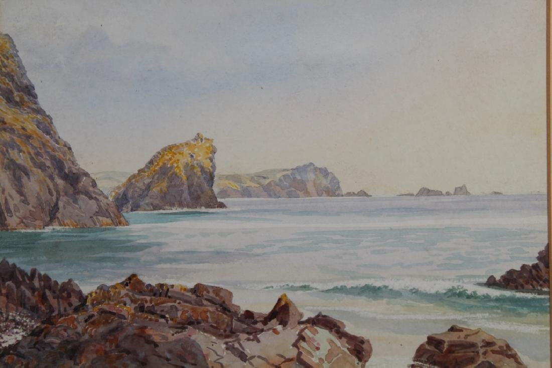 """Kyncaid Cove, 1889"" English School Watercolor - 2"