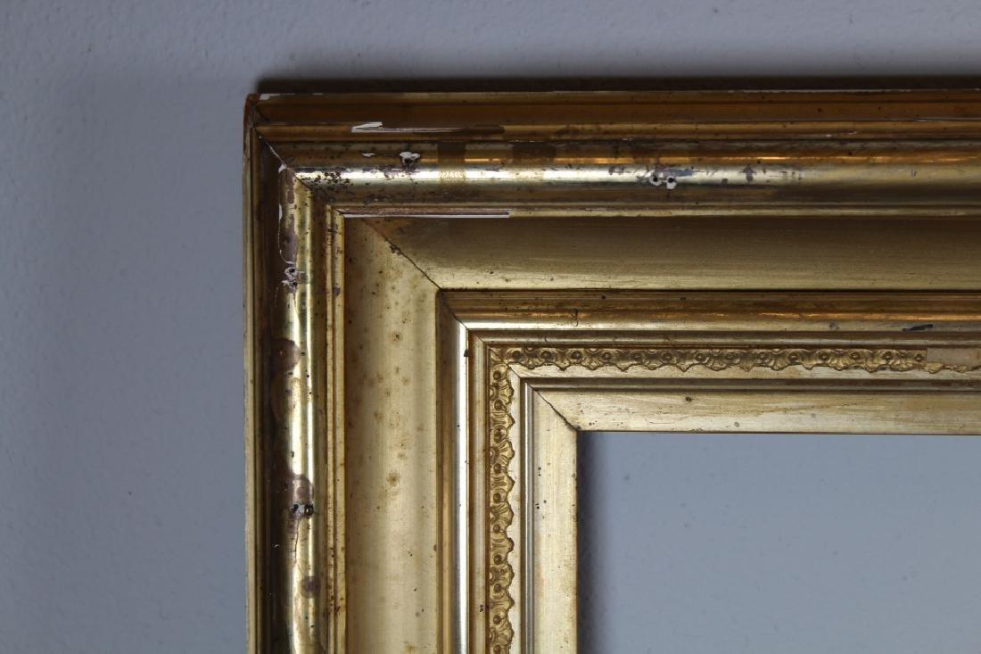 Antique American Gilt/Carved Wood Frame - 2