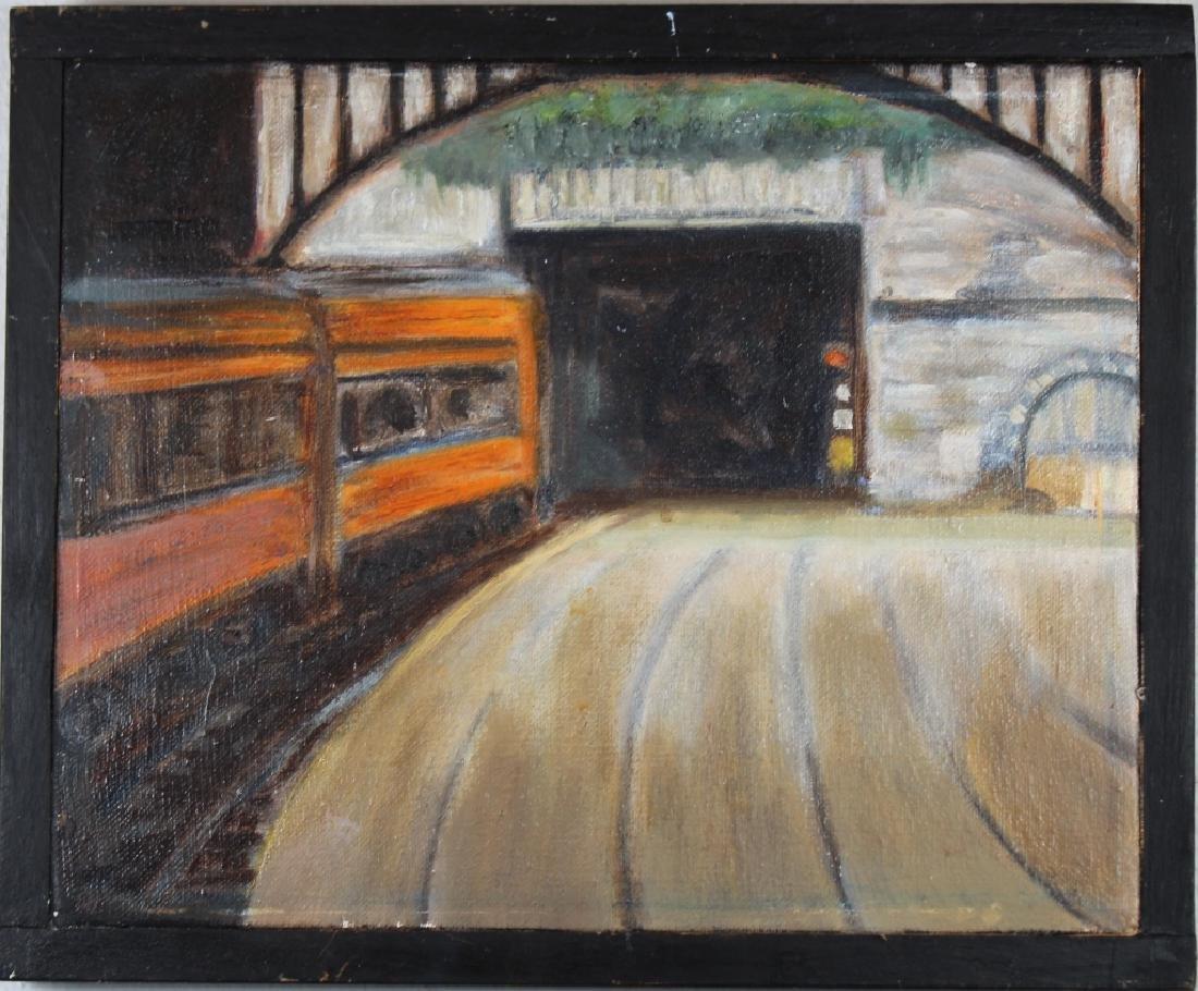 """Corinth Railroad Station, Ireland"" Painting"