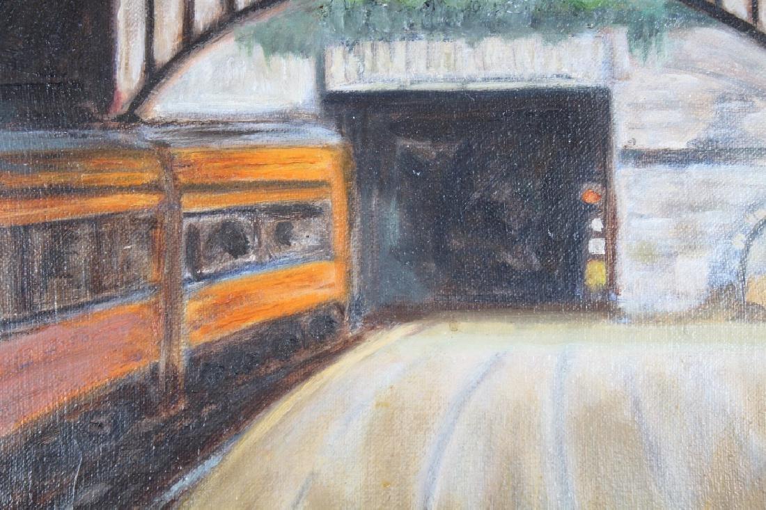 """Corinth Railroad Station, Ireland"" Painting - 2"