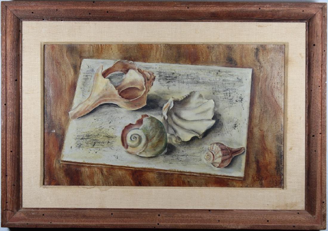 "Karen Walter, ""Shell Study"" Painting"