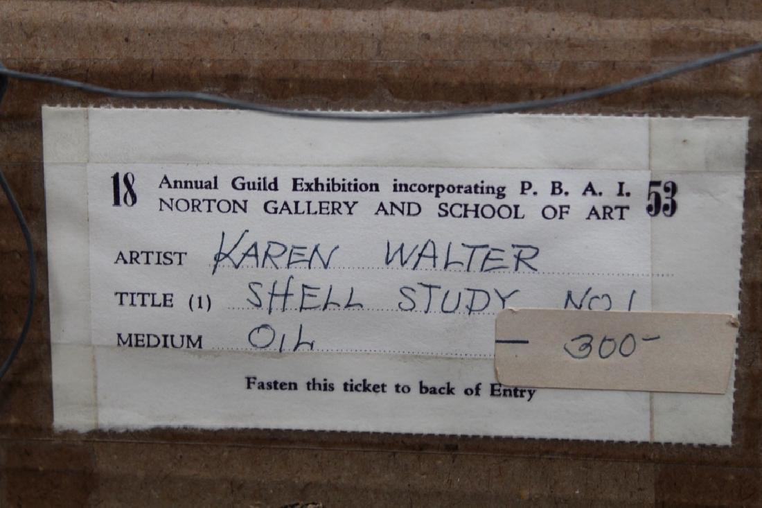 "Karen Walter, ""Shell Study"" Painting - 4"