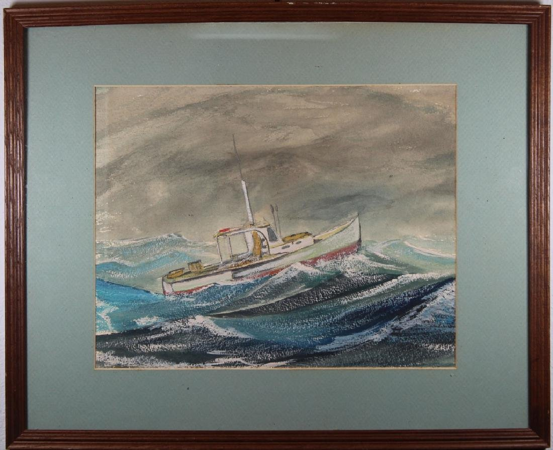 Wilkerson, Painting of Ship in Rough Seas