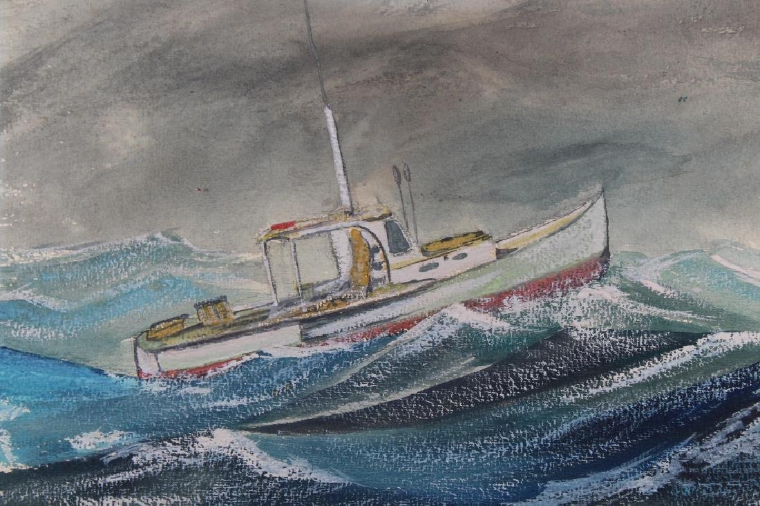 Wilkerson, Painting of Ship in Rough Seas - 2