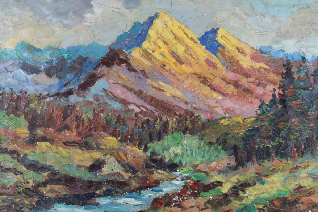 Signed Impressionist Painting of Western Landscape - 2