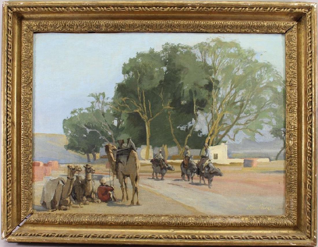 Lena George Orientalist Style Painting, 20th C.