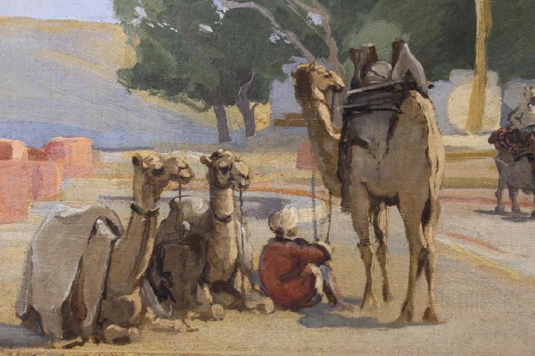 Lena George Orientalist Style Painting, 20th C. - 3