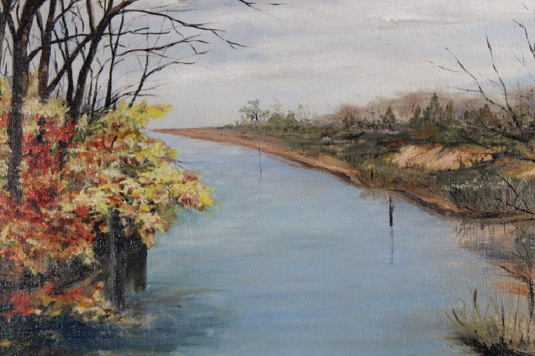 20th C. American School River Landscape, Signed - 2