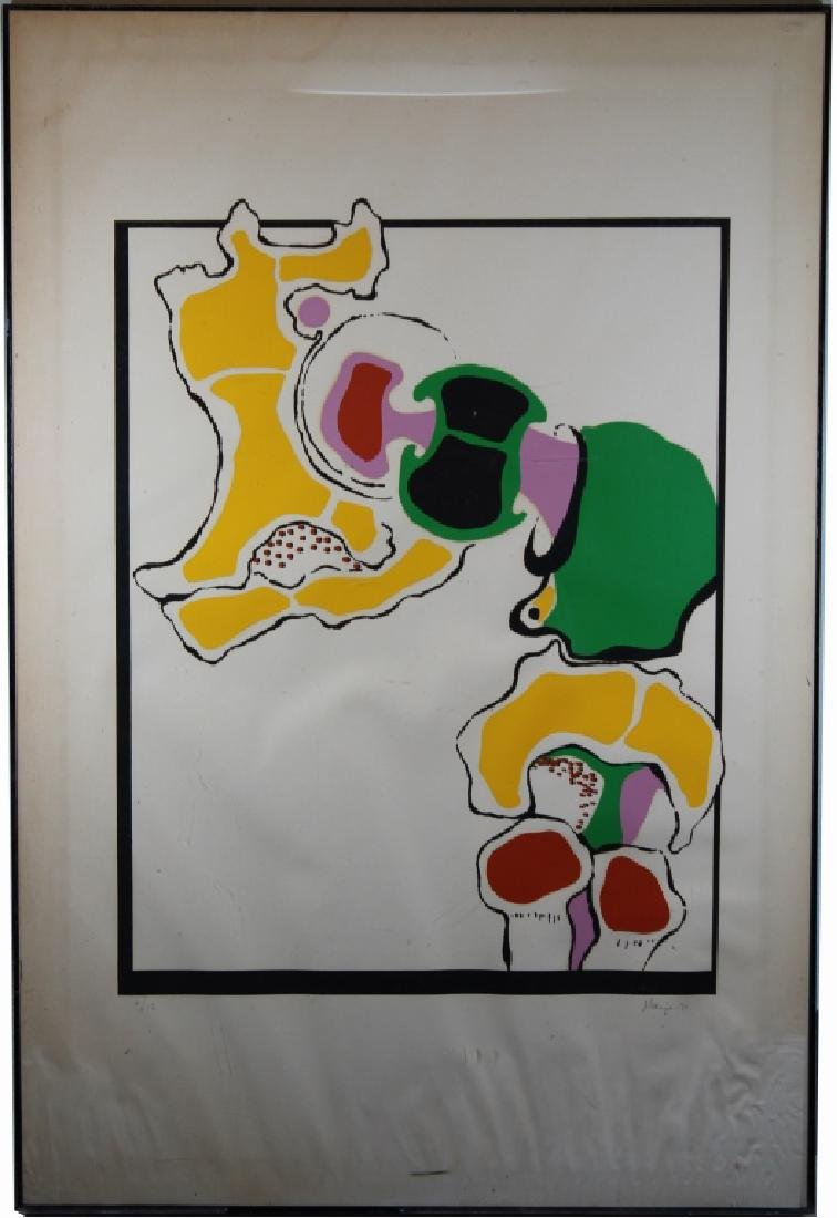 '71 Signed, Abstract Lithograph