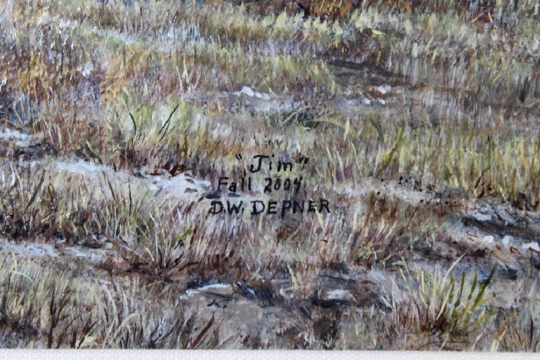 Depner, Signed Western Landscape with Hound - 3
