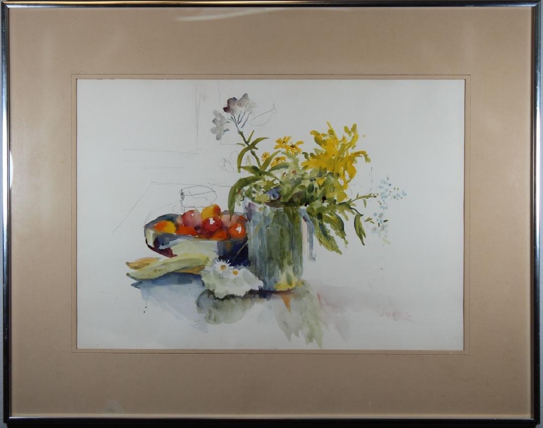 Jones, Signed Watercolor of a Still Life