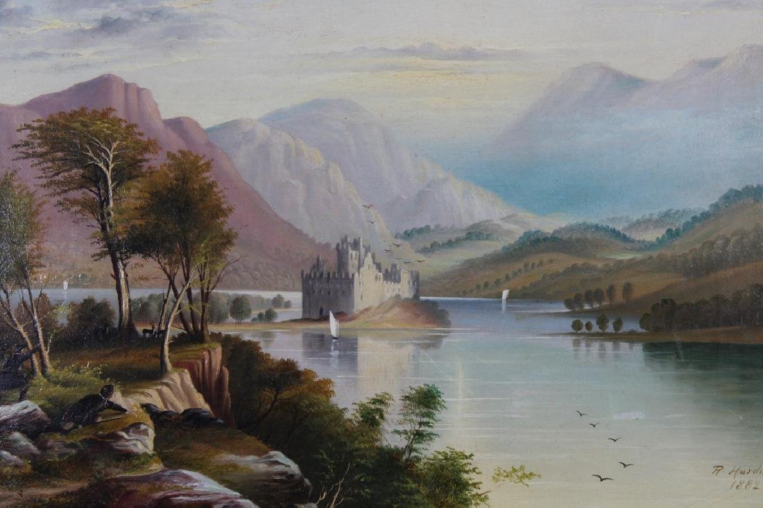 R Harding, 19th c. Landscape with Figures - 2