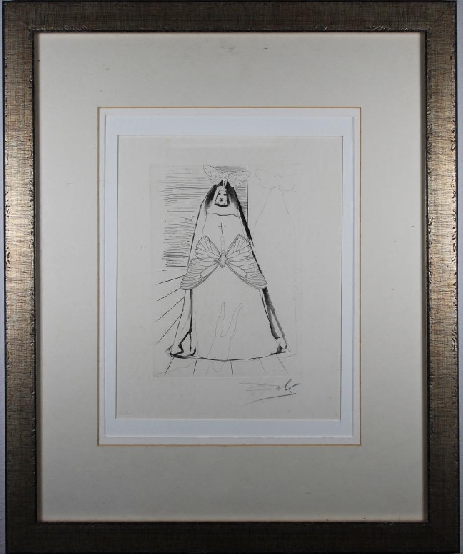 Salvador Dali Framed Etching