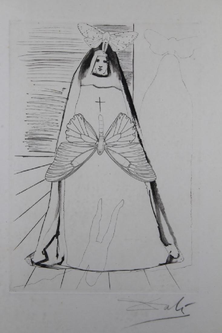 Salvador Dali Framed Etching - 2