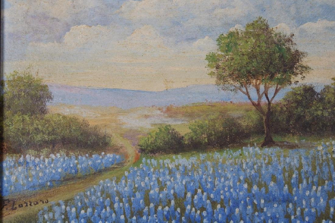 F. Lazzaro, Painting of a Field of Bluebonnets - 2