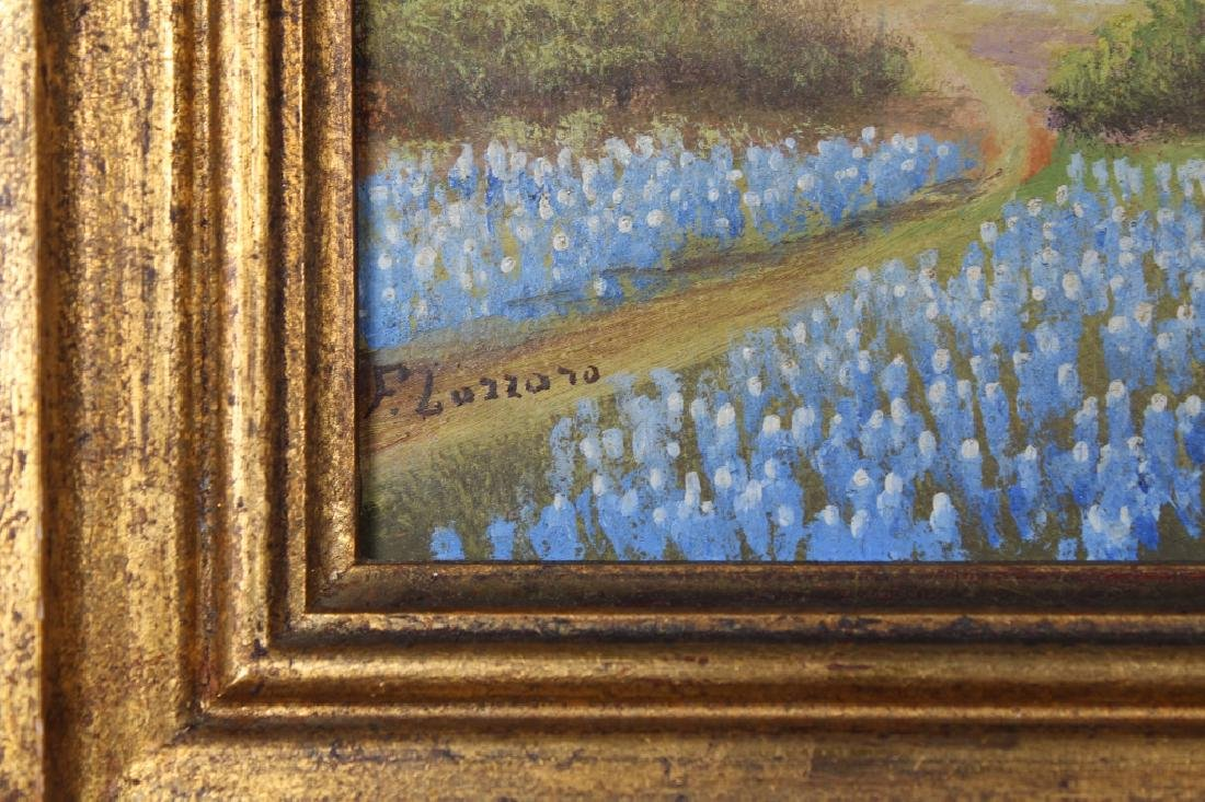 F. Lazzaro, Painting of a Field of Bluebonnets - 3