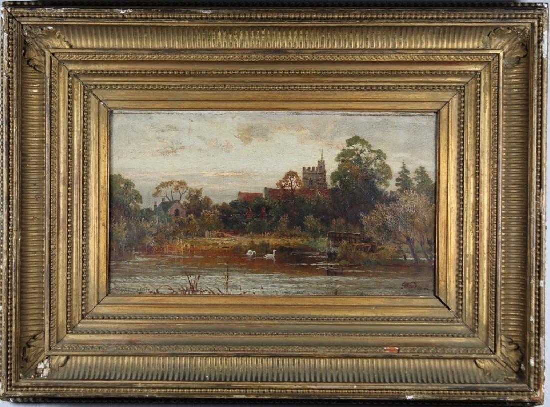English School, 19th C. Coastal Landscape. Signed