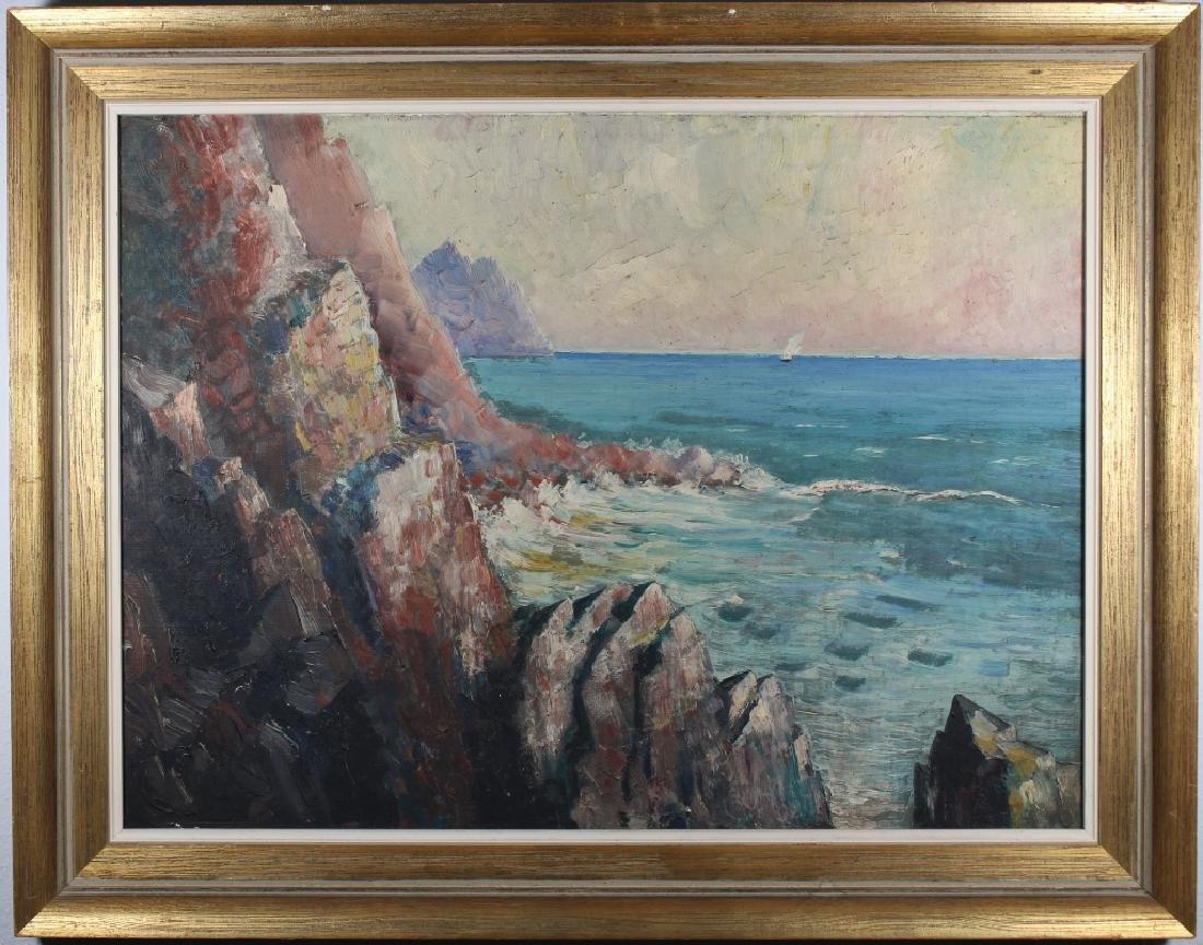 European School Impressionist Coastal Seascape