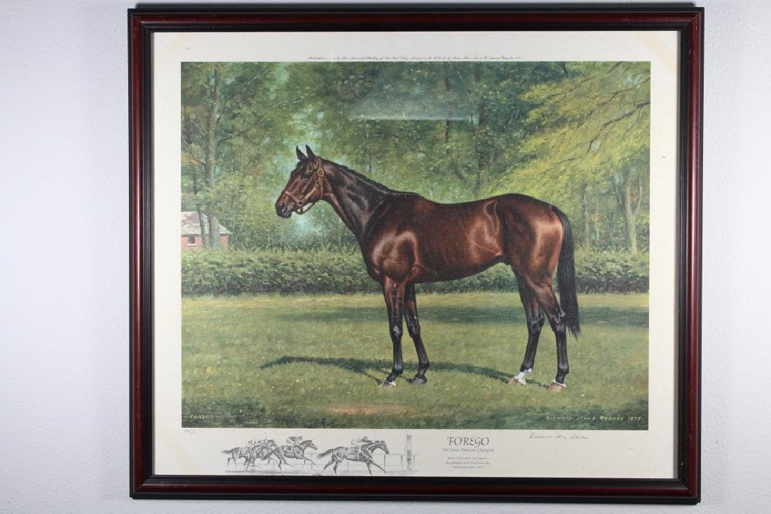 Richard Stone Reeves Framed Equestrian Print