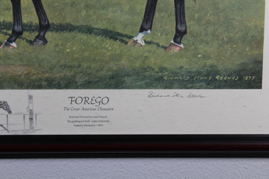 Richard Stone Reeves Framed Equestrian Print - 2