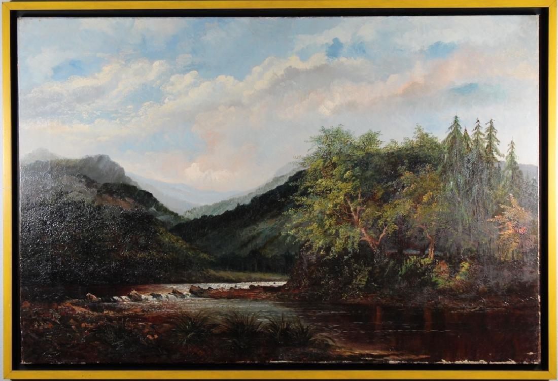 19th C. English School River Landscape