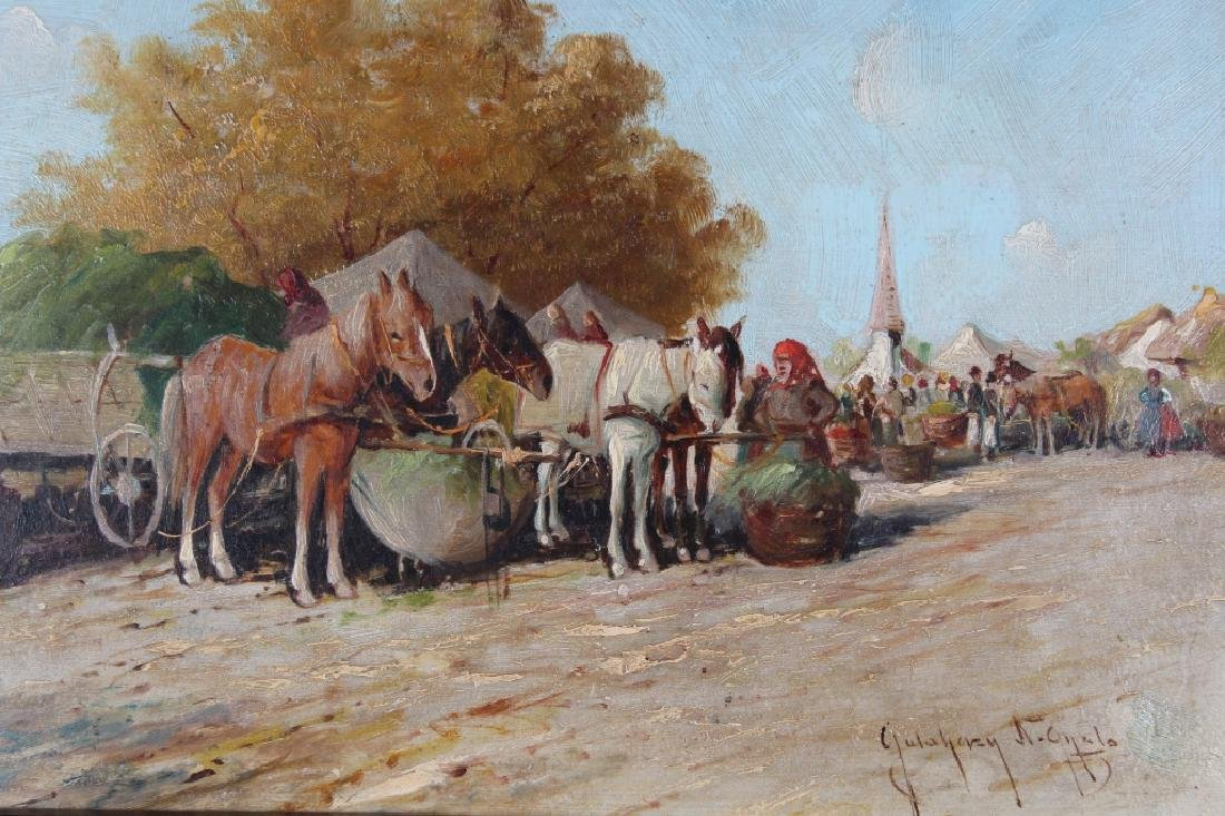 European School, 19th C. Painting of Market Scene - 2