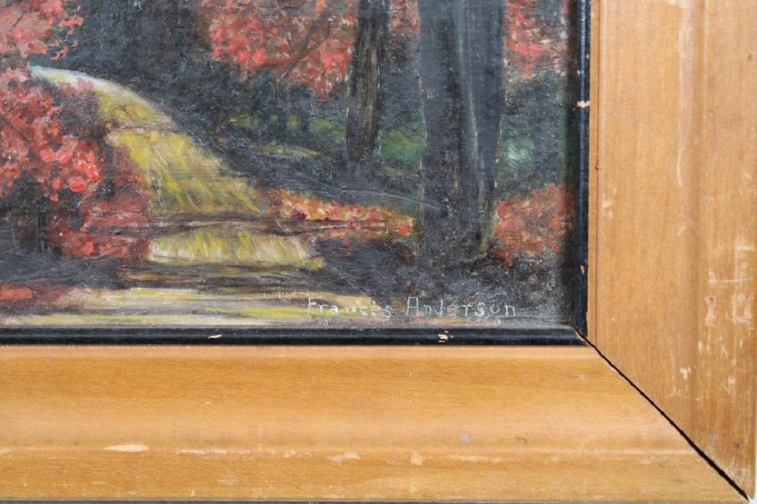 Signed, Vintage American School Autumnal Scene - 2