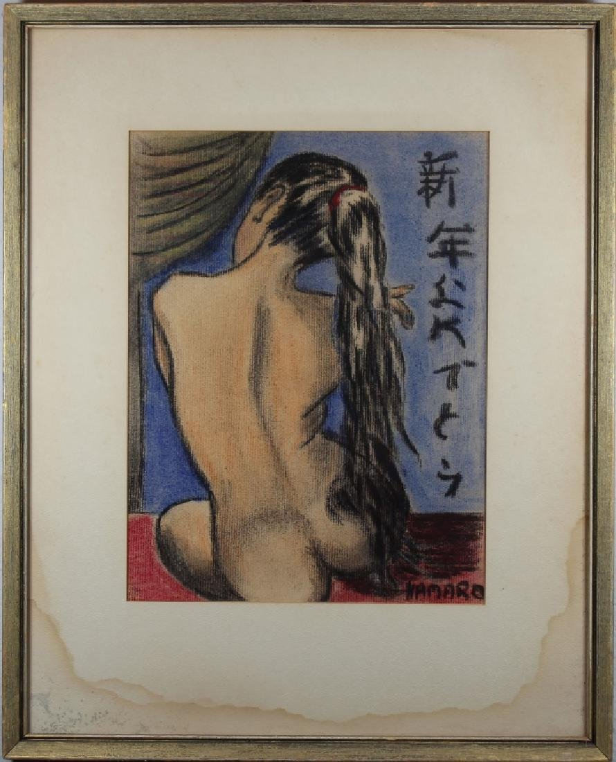 Namaro, Signed Mixed Media of a Nude Woman